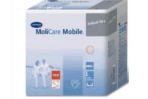 Molicare Mobile Моликар Мобайл- впитывающие трусы: pазмер L(обхват бедер 100-150см), 3 капли (около 1800 мл), упаковка 14 шт, Германия