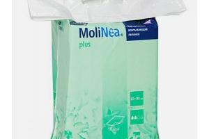 MOLINEA Plus L - Впитывающие пеленки: размер 60 х 90 см, впитываемость 980 мл, 10 шт.