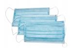Маска медицинская одноразовая трехслойная на резинке голубая 50 шт